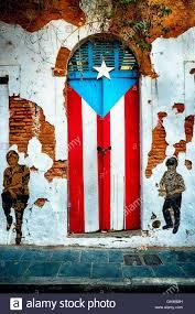 San Jose Flag Puerto Rican Flag Door Calle San Jose Old San Juan Puerto Rico