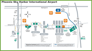 Alaska Airlines Map by Phoenix Sky Harbor International Airport Map