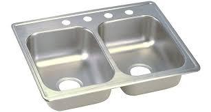elkay dayton 25 x 19 basin top mount kitchen sink