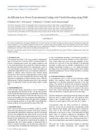 an efficient low power convolutional coding with viterbi decoding usi u2026