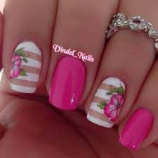 32 pink white and blue nail designs nails pix
