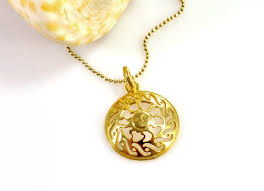 gold plated silver necklace images Sun symbol gold plated sterling silver necklace jpg
