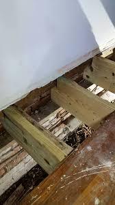 Repair Floor Joist Advice 2 X10 Floor Joist Repair In 1941 House With Termite Damage