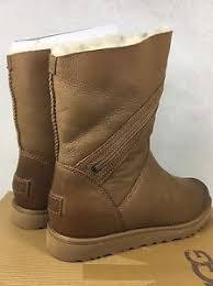 s ugg australia leather boots ugg australia alba chestnut leather demitasse boots