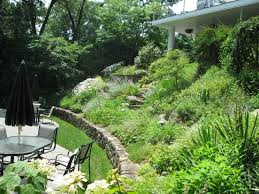 Landscaping Ideas For Sloped Backyard Best 25 Sloping Backyard Ideas On Pinterest Sloped Backyard