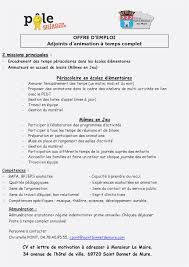 valet de chambre offre d emploi lettre de motivation animateur periscolaire cv et lettre