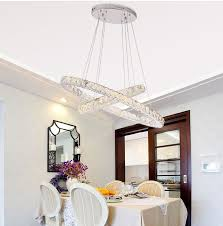 Dining Room Crystal Chandelier by Aliexpress Com Buy Luxury Double Rings Crystal Lamp For Dining