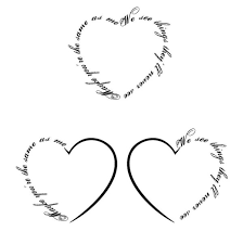 collection of 25 heart tattoo designs