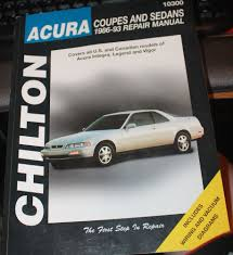 chilton acura repair manual 10300 couples and sedans 1986 1993 inc