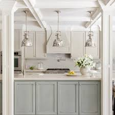 houzz blue kitchen cabinets 75 beautiful kitchen with blue cabinets and an island