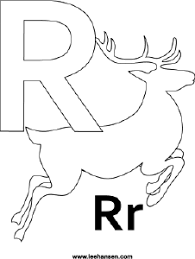 alphabet coloring page printable letter r reindeer coloring sheet
