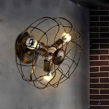 Copper Wall Sconce Lights Fashion Style Copper Wall Sconces Blue Industrial Lighting
