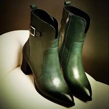 womens boots green leather footwear s boots alternative measures