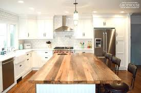 wood top kitchen island how to use live edge reclaimed wood for a farmhouse kitchen