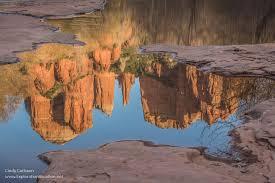 Cathedral Rock Reflections At Sunset Red Rock Crossing Evening Reflections At Red Rock Crossing Sedona Arizona