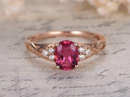 pink gold engagement rings pink tourmaline engagement ring 1 35ct oval cut tourmaline ring