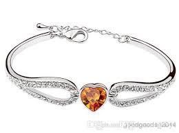 sterling silver crystal heart bracelet images Austrian crystal diamond korean heart shaped crystal bracelet jpg