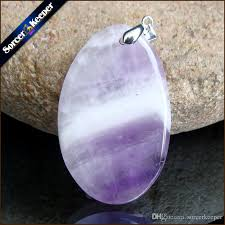 purple crystal stone necklace images Wholesale sorcerkeeper women 39 s collares gem natural amethyst stone jpg
