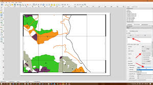 qgis layout mode adding a frame style in a map with qgis geographic information