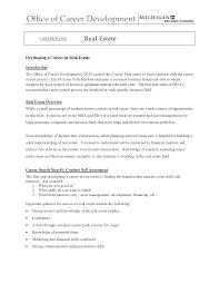 commercial real estate broker resume sample bongdaao com