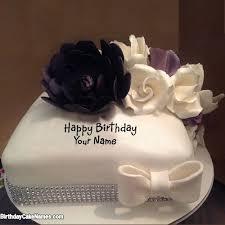 write name on beautiful cake with name