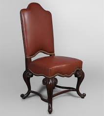 genuine leather english dining chair