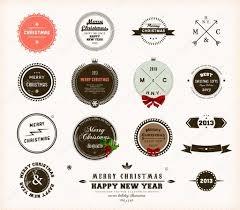 christmas decoration collection set of calligraphic and