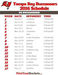 bay buccaneers schedule