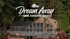 www dreamhome com 2018 hgtv dream away with 20k sweepstakes tv commercial dream