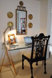 Diy Sawhorse Desk by Diy Glass Top Desk
