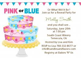 gender reveal baby shower gender reveal cake baby shower invitations candles and favors