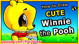 draw disney cartoons winnie pooh pooh bear fun2draw