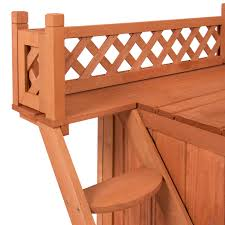 Cedar Dog Bed Best Choice Products Wood Dog House Shelter With Raised Roof