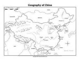 ancient china geography worksheet humanities pinterest