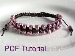 macrame bracelet with beads images Pdf tutorial beaded square knot macrame bracelet pattern instant jpg