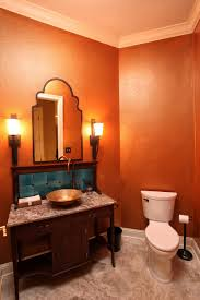 Orange Powder Room Blog Ambiance