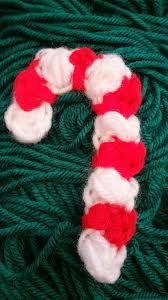 crochet a candy cane christmas ornament decoration or applique