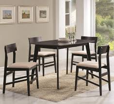 Warm Grey Kitchen Coaster 150348 Contemporary 5 Pc Dining Set Dinette Warm Grey Finish