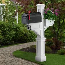 mayne signature plus plastic mailbox post white 580800000 the