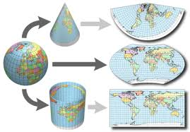 what is a map projection map projections mapping definitions and concepts