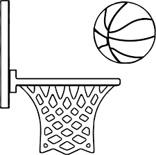Side Playing Basketball Coloring Page Wecoloringpage Basketball Color Page