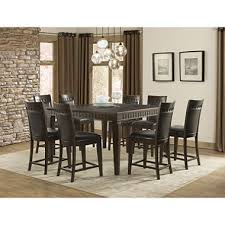 counter height dining room table member s mark madison 9 piece counter height dining set sam s club