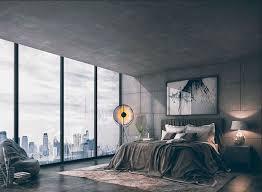 dunkles schlafzimmer ansprechende wandgestaltung schlafzimmer mit betonwänden