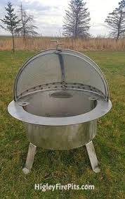 Firepit Screens Center Pivot Dome Pit Ring Spark Screen We Can Make Any Size