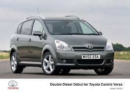 double diesel debut for toyota corolla verso toyota uk media site