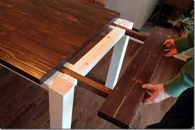 Dining Table With Extension Diy Farmhouse Table With Extension Leaves With Plans Sweet