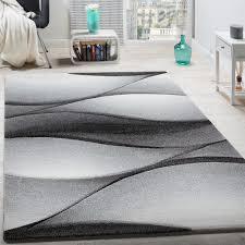 Modern Designer Rugs Modern Contour Cut Designer Rug Abstract Wave Design Anthracite