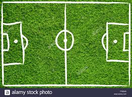 hand drawn sketch style soccer field or football field on sunny