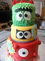 yo gabba gabba birthday cake3d cards 68 best cake foami images on petit fours birthday party