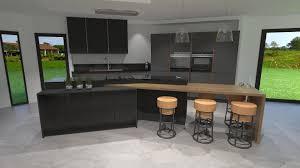 cuisine gris bois charmant plan de travail cuisine gris anthracite 2 cuisine gris